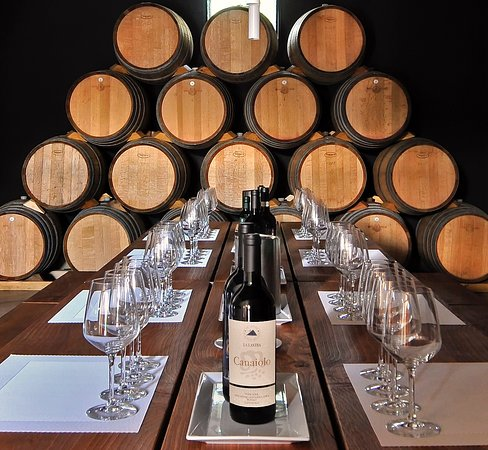 Siena, Itália: Our room ready for a wine tasting