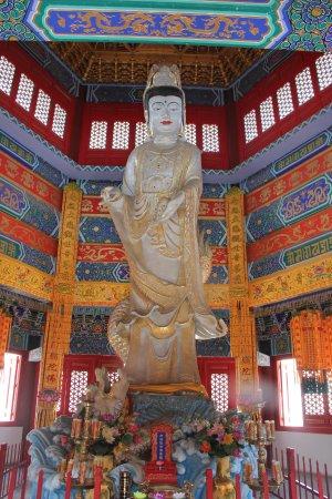 Penglai, China: 72 ton jade statue of Guanyin