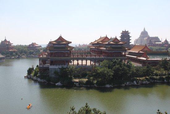 Penglai, China: Eight mortals pavilion
