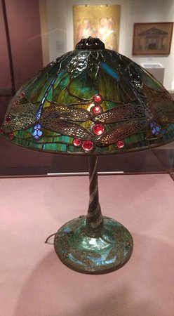Corning, NY: Tiffany lamp in the Tiffany exhibit