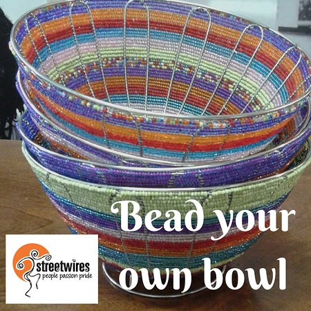 Cape Town, South Africa: We offer private classes where you can learn to bead your own bowl, which you get to take home w
