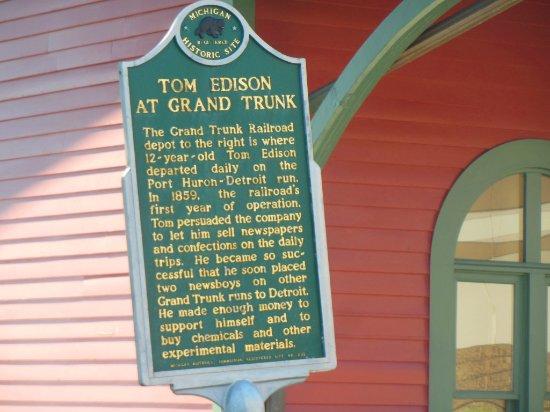Port Huron, MI: Sign at entrance