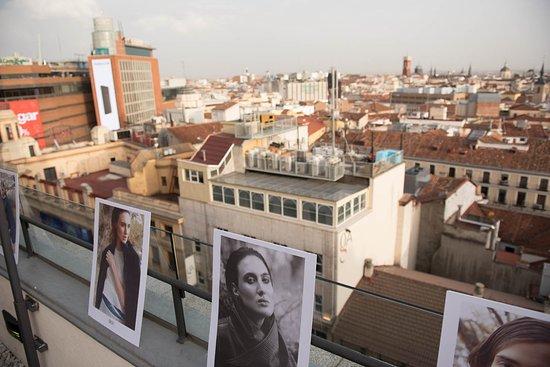 Vincci Capitol Hotel : vista de la ciudad de madrid desde la terraza