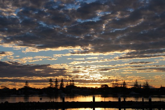 Forster, Australia: Sunset view from site