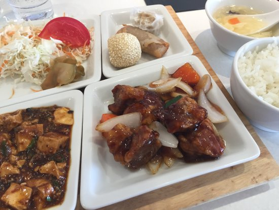 Kashiba, Japon : ランチプレートはメインが選べます。酢豚すごいおいしい。