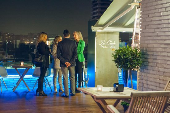 Le Club Rooftop Bar Picture Of Hotel Ercilla Bilbao