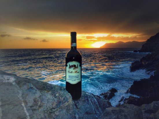 Montefalco, Italy: We took our bottle on our travels up to Cinque Terre and drank it watching the sunset