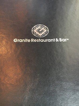 Granite Restaurant and Bar : New Menu