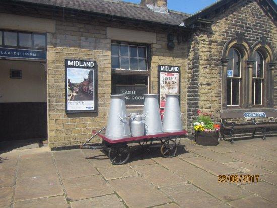 Haworth, UK: just some of platform decorations