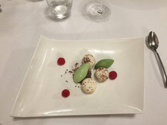 Castel Damandre: dessert chocolat menthe