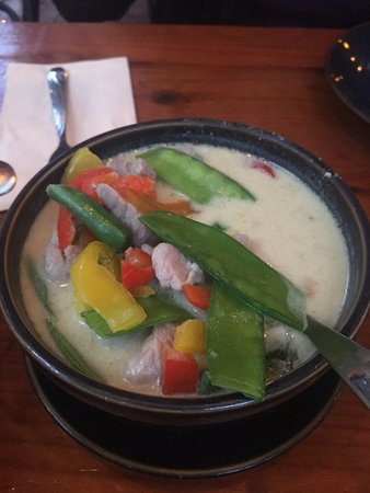Davis, CA: Red Curry with vegetables