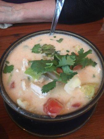 Davis, CA: Coconut soup with chicken