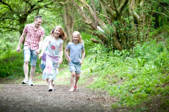 Combe Martin Beach Holiday Park: Our woodland walk