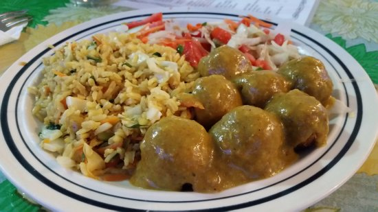 Punta Gorda, Belice: Curry tofu balls