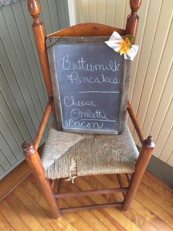 Danville, VT: Breakfast menu