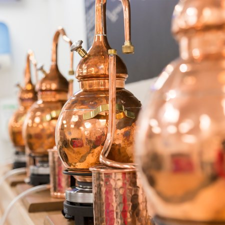 Southwold, UK: Mini Copper Stills