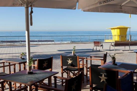 Nuestra Terraza A Pie De Playa Picture Of El Indiano