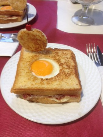 "Sopelana, Spain: A ""simple"" egg and bacon toasted sandwich came beautifully presented and was delicious."