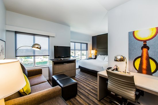 Hyatt House Santa Clara Studio King Room With Pull Out Sofa Bed Fully Equipped