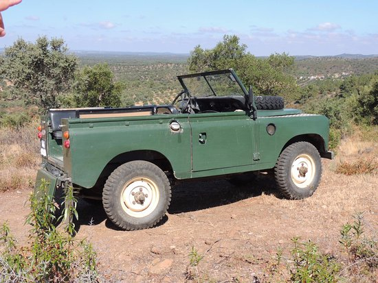 Redondo, Portugal: 1974 Land Rover used on the excellent farm tour.