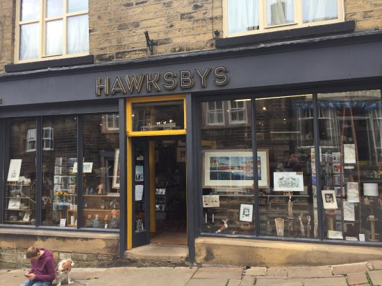 Hawksby's Shop front on Main Street in Haworth