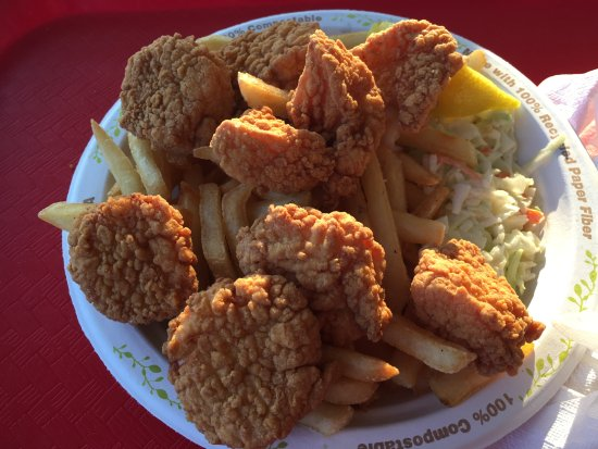 Wellfleet, MA: Fried Scallop Platter