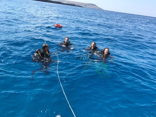 Munxar, Malta: Coming up from the P31 boat wreck dive