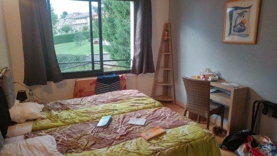 Hôtel Restaurant La Chaumière du Lac : Chambre deux lits simples 19 m²
