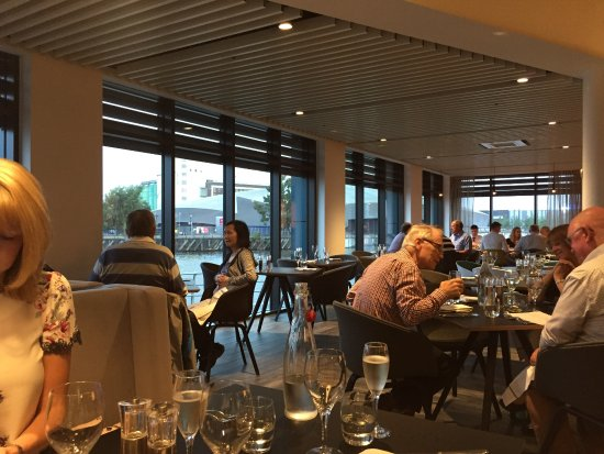 Salford, UK: View from table
