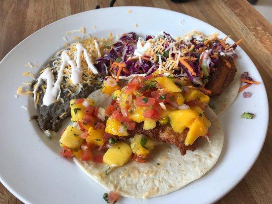 Tioga Gas Mart & Whoa Nellie Deli: Fish tacos with fresh salsa