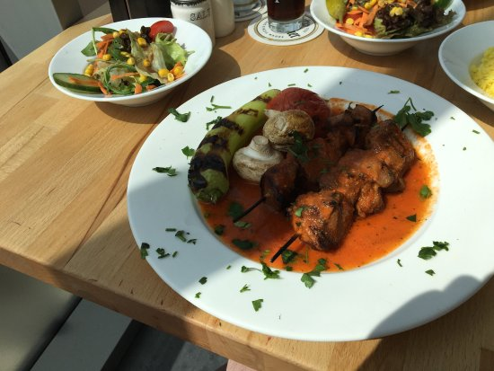 Vaals, The Netherlands: Pinchos del Matador (grilled lamb skewer with tomato sauce)