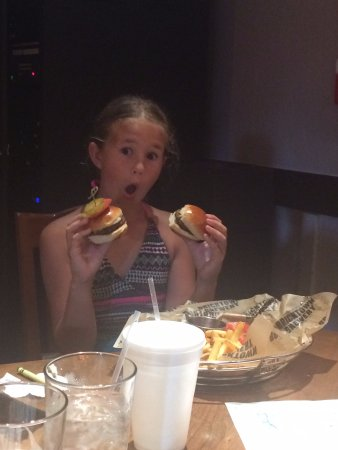 Bricktown Brewery Restaurant: Mini slidders off the kids menu