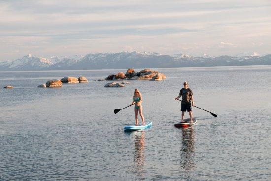 Tahoe Vista, CA: Sunset paddle.