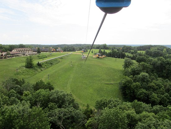 Galena, IL: View from the top of the zipline