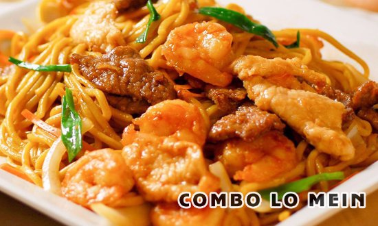 Jamestown, NY: choose from chicken, shrimp, or beef with a side of lo mein noodles