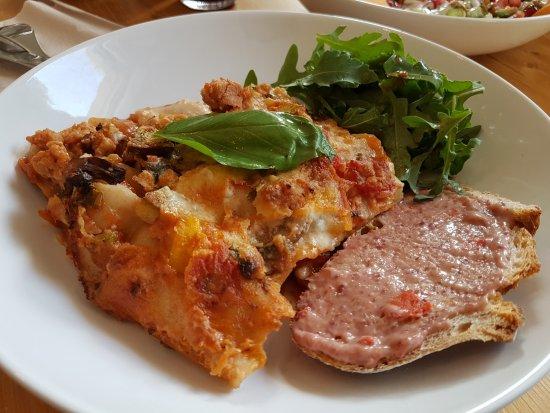 Luksemburg, Luksemburg: vegan lasagne