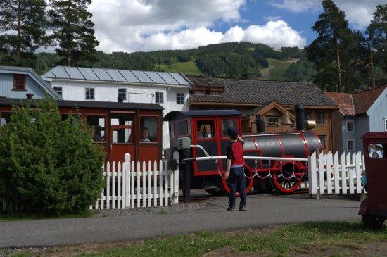 Lilleputthammer Amusement Park: Lilleputt Train as it travels through Lilleputthammer