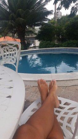 Hotel Serrano Gravata: Piscina levemente aquecida e um pouco pequena.