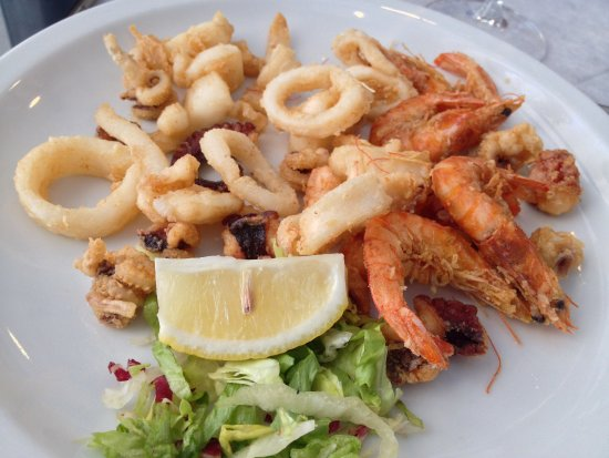 Torre Pali, Italia: Frittura mista di pesce