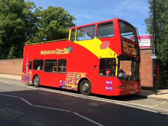 City Sightseeing Hop-on, Hop-off Tour of Norwich: The bus!