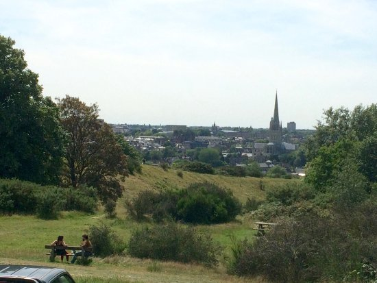 City Sightseeing Hop-on, Hop-off Tour of Norwich: View from Mousehold heath