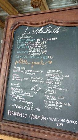 San Juan Cosalá, México: The menu