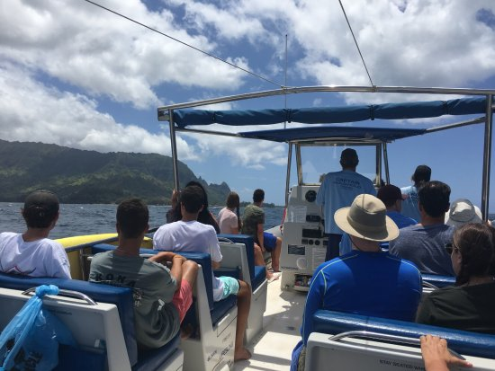 Eleele, HI: View from the back of the boat