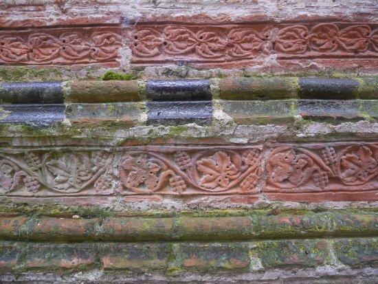 Dargun, Deutschland: Detail der gotischen Gestaltung