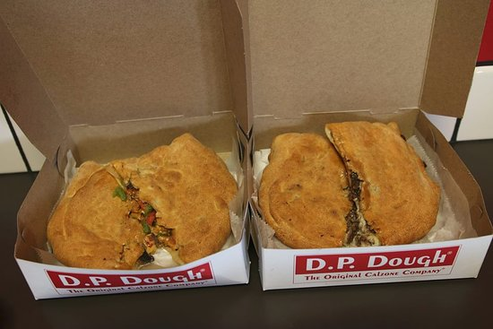 D.P. Dough: Wednesday deal provides $3 off when you order two calzones.  Very delicious!