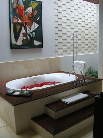The Samaya Bali Ubud: Another angle of our jacuzzi tub