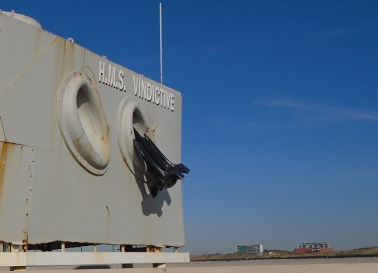De boeg van de HMS Vindictive