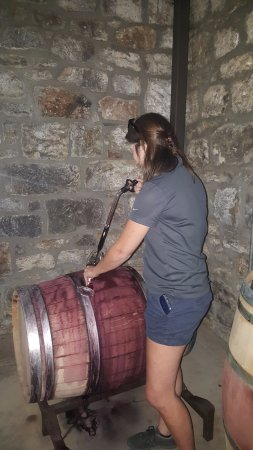 St. Helena, CA: Wine thievery going on