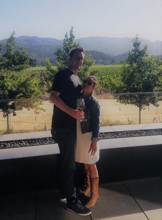 HALL St. Helena : Us on the terrace