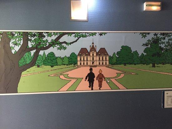 Cheverny, France: Tintin comme chez lui !